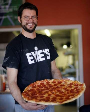 Dave with pizza