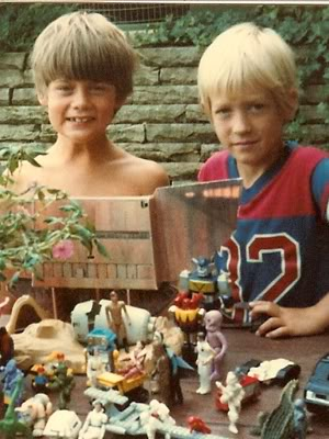 Dave and me as kids, 1980