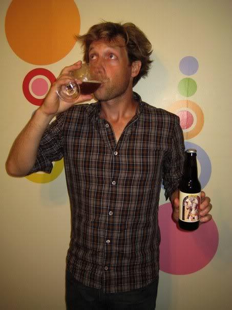 Drinking the Belgian Prankster.